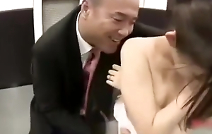 Young Wife dressed as a bride forced by her husband_s boss SEE Complete