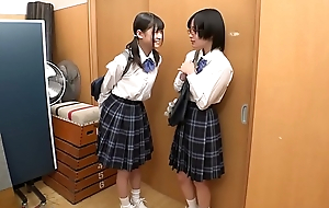 Tiny Young Japanese Nance Schoolgirl Strap-on Fucked and xxx  Abused By M�lange Mate