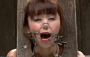 Romp Japanese slut pussy toyed