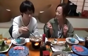 Japanese Mom shows nerdy Son how to Be captivated by